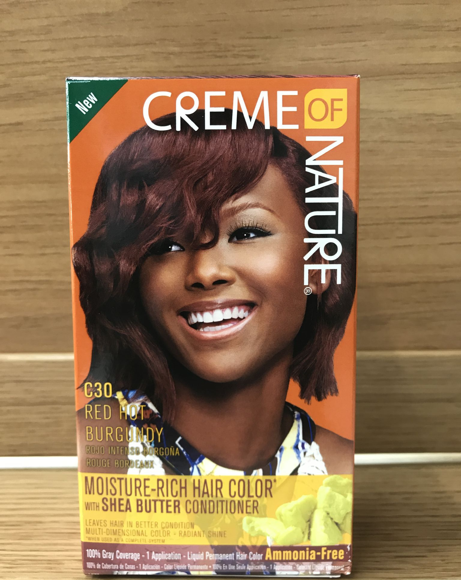 Creme Of Nature Moisture Rich Hair Colour C30 Red Hot Burgundy